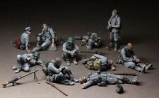 1/35 Scale Unpainted Resin Figure  WWII German infantrymen At Rest 10 figures