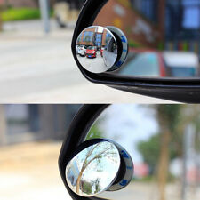 2x Car Truck Round Rearview Mirror Blind Spot Wide Angle 360° Rotable Universal