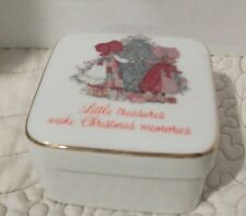"Designers' Collection Christmas ""Little Treasures""Square Porcelain Trinket Box"