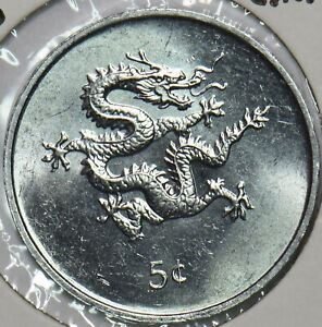 Liberia 2000 5 Cents Dragon animal Year of the Dragon 196502 combine shipping