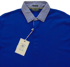 Men's POLO GOLF RALPH LAUREN Blue Vintage Lisle Shirt XXL 2XL NWT NEW AmAZinG!