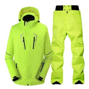 Men Snow Suit Outdoor Snowboard Clothes Waterproof Windproof Ski Jacket Pant