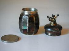 STERLING SILVER Tooth Fairy Lidded Box Container Jar Vintage Empire