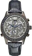 GUESS U0020L2 Chronograph Gray Metallic Lizard Grain Leather strap watch 43mm