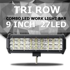 9 INCH 135W 27LED Work Light Bar Spot Flood Combo Driving Offroad SUV 4WD 6000K