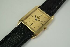PATEK PHILIPPE 3572 YELLOW RECTANGLE 18K YELLOW GOLD extra thin  DATES 1970'S