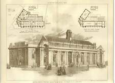 1906 Central Library St Pancras Second Design Js Gibson