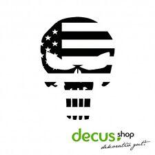 Skull Punisher USA Flag // Sticker JDM Aufkleber Frontscheibe