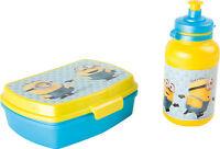 Minions Brotdose und Trinkflasche Kinder Lunchbox Kindergarten Schule Frühstück