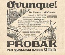 W2984 PROBAK per qualsiasi rasoio Gillette - Pubblicità del 1932 - Old advert