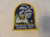 2001 Three Fires Council Fox Valley District Spring Camporee BSA Staff Patch