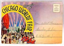 1934 Chicago Foldout Postcard Booklet Souvenir of The World's Fair Lovely! P28