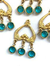 S119 - 12 Set w/ Swarovski Rhinestones - Chandelier Earring Findings  Indicolite