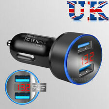 3.1A 2 Port LED LCD Display Dual USB Car Charger adapter 12-24V Cigarette Socket