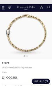 Fope Eka 18ct Gold Bracelet