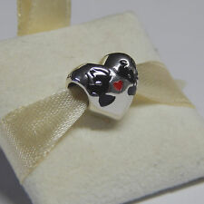New Authentic Pandora Charm Disney Mickey & Minnie Kiss 791443ENMX Box Included