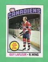 1976-77 OPC O PEE CHEE  # 163 Guy Lafleur nrmnt+