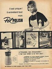 PUBLICITE ADVERTISING  1950  POL POLISH lait de beauté cire laquée
