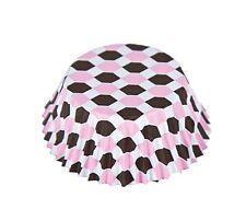 Fox Run Foil Lined Geometric Regular/Standard Pink/Brown Cupcake Liners 32 ct.