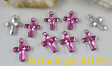 400 pcs Cherry cross acrylic charms W1768