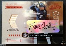 2001 Absolute XAVIER NADY RC Autograph Bat #ed 24/700 1st 25 Signed = 24/25 Auto
