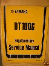 1979 Yamaha DT100G DT 100 G Supplement Service Manual