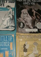 PIANO SHEET MUSIC VINTAGE DECO NOVEAU 1920  NEWLYWEDS BABY 4 SONGS GROUP 2