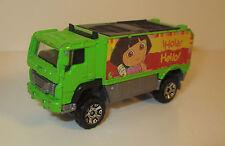 """2006 Dora the Explorer 2.75"""" Green Matchbox Diecast Metal Truck Car Mattel Hola"""