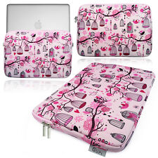 "Smart GUPi ® PINK Floral Flower Classic BIRD CAGE 13.3 / 13""NEOPRENE Sleeve Case"