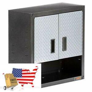 Gladiator Garage Wall Cabinet Shelf 28 In H x 28 In W x 12 in D Steel 2-Door 3/4