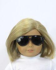 Black Framed Aviator Style Sunglasses for American Girl Dolls - Perfect for Boys