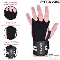 CrossFit Grip - Leather Black 3 Hole Integrated Wrist Wrap