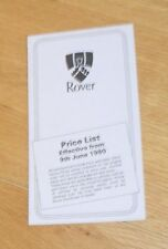 ROVER SD1 listino prezzi 1980-V8S 3500 2600 2300