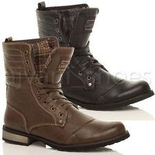Stivali militari da uomo con stringhe