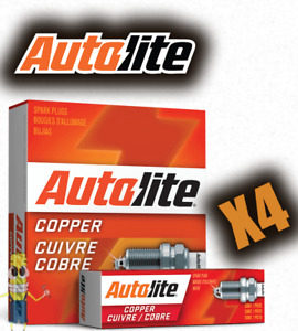 Autolite 46 Copper Resistor Spark Plug - Set of 4