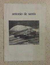 Antonio De Santis piccolo catalogo pittore 1985