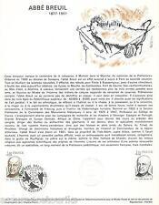 DOC. PHILATÉLIQUE - ABBÉ BREUIL - 1977 YT 1954