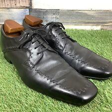 UK9 Grenson Black Leather Oxford Brogue Dress Shoe - Handmade In England - EU43