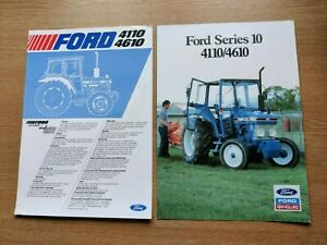 FORD SERIES 10 4110 & 4610 COLOUR FARMING TRACTOR BROCHURE & SPEC SHEET IN VGC
