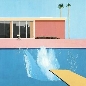 David Hockney A Bigger Splash CANVAS WALL HANGING PICTURE PRINT ART 20x20 Inch