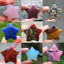 Natural star pendant quartz crystal pentagram pendant carved reiki healing