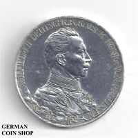 3 Mark 1913 Preussen Wilhelm II. - 25jähriges Regierungsjubiläum - SILBER PP