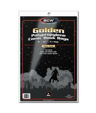 "1 Pack of 100 BCW Golden Age 8"" Thick Comic Book Storage Bags Sleeves"