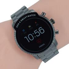 de929f9201a0 Fossil Q Herren Uhr Gen 4 Smartwatch FTW4012 Q Explorist HR Gun Grau  Edelstahl