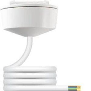 HAGER KLIK CR64AX/3.0 4 Pin Emergency Lighting Plug in Ceiling Rose 6A 3mtr Lead