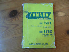 YAMAHA, Genuine OEM, Parts List, RS100, RS100 S, Type 1Y8, 1st edition, Jan 1977