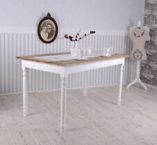 Dining Table Vintage Wood Country Style Wooden Antique White Kitchen NEW