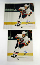 Lot of (10) Dave Langevin Signed 8 x 10 Photos Islanders Autos