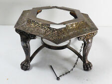 Antique Victorian Silver Plate Repousse Tea Coffee pot Chafing Warmer Stand Base