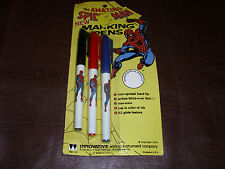 Vintage The Amazing Spider-Man Marking Pens Super Hero Rare Marvel New MOC 1978